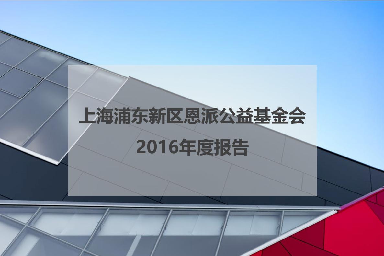 上海浦东新区恩派公益基金会2016年度报告